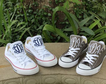 9c29eb53c8d5 Monogrammed Low Top Converse Shoes