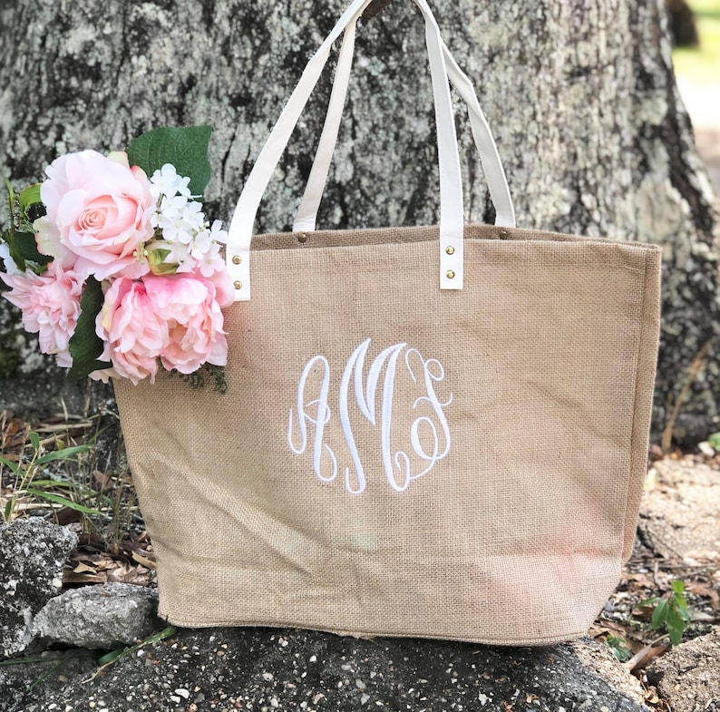 808c32a9c SALE BEST SELLER Personalized Burlap Bag Beach Bag | Etsy