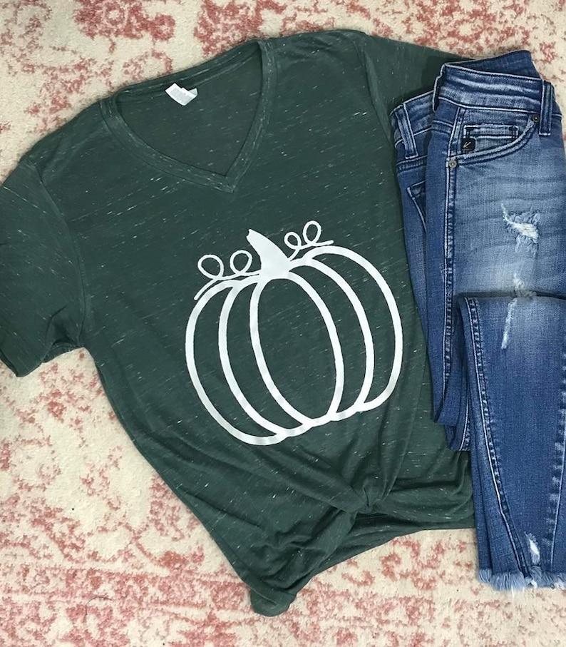 fd315c4f557e Fall Autumn Pumpkin Graphic T Shirt Bella Canvas Best Seller | Etsy