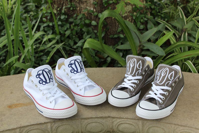 2614754b51c407 Monogrammed Low Top Converse Shoes personalized converse