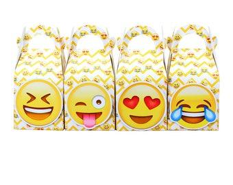 166802ad5 Emoji Favor Box Candy Box Gift Box Cupcake Box Boy Kids Birthday Party  Supplies Decoration Event Party Supplies