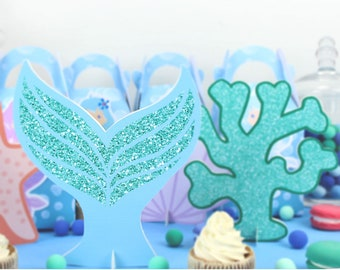 Under The Sea Mermaid Party Decoration Table Centerpiece Kids Birthday Supplies Favors Centerpieces