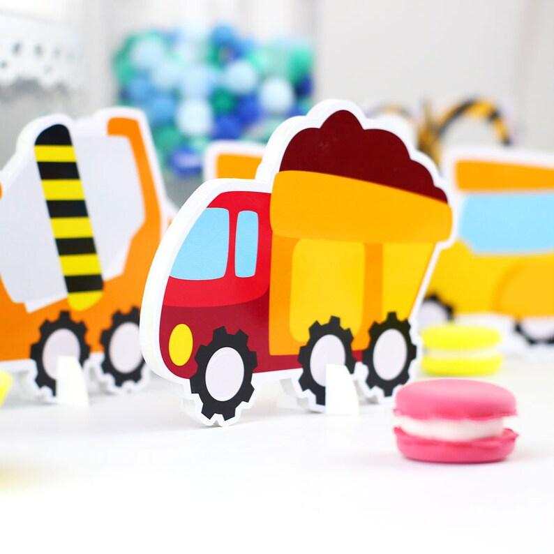Construction Trucks Table Decoration Trucks Table Centerpiece Kids Construction Birthday Party Decoration Supplies