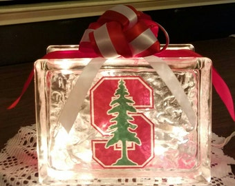 STANFORD UNIVERSITY Lighted Glass Block