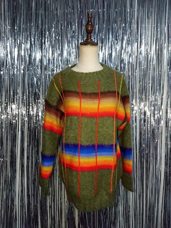 Vintage 1980s Kansai Yamamoto Rainbow Proud Knitwe