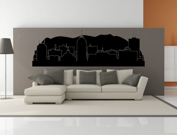 premium fresno california city skyline interior wall decal etsy