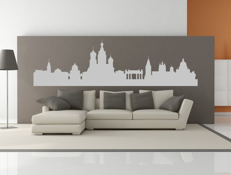St Petersburg Russia City Skyline Interior Wall Decal Sticker WITHOUT Lettering