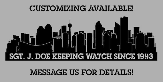 PREMIUM Providence Rhode Island City Skyline Interior Wall Decal WITH Lettering