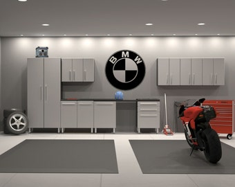 BMW Emblem Garage Interior Wall Decal Sticker