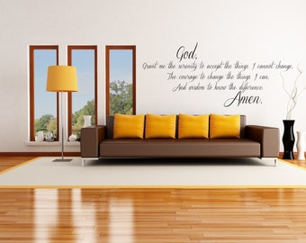 Prayer Famous Inspiration Quote Wall Decal