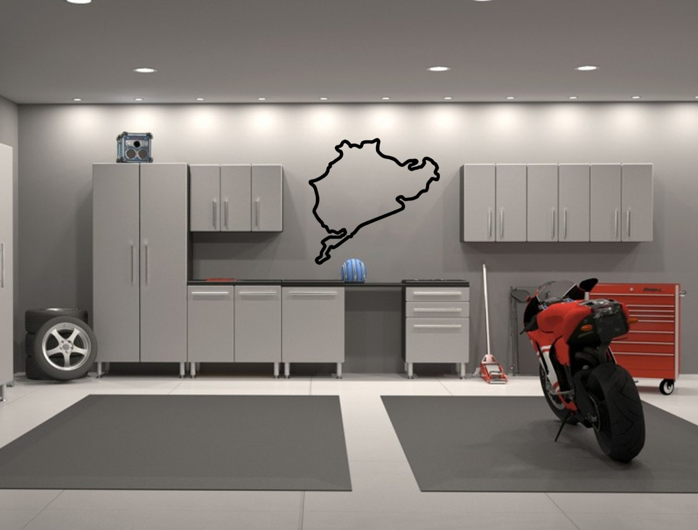 Nurburgring Full Circuit Germany Race Track Interior Wall Etsy - Race track garage flooring