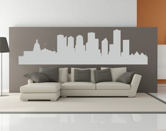 Edmonton Alberta Canada City Skyline Interior Wall Decal WITHOUT Lettering