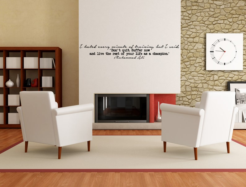Famous Muhammad Ali Motivational Quote Wall Decal