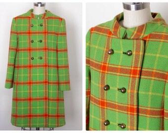 1960s Mod Joseph Magnin Swing Coat Size S/M