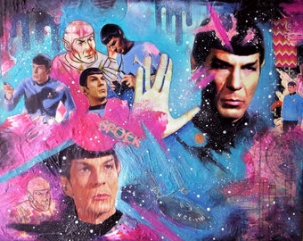 16x20 Inch Mixed Media Spock Collage