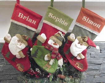 Embroidered Personalised Christmas Stockings