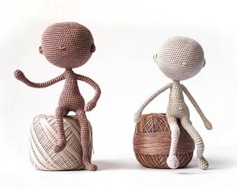 amigurumi doll body pattern, base model little doll, crochet tutorial ENGLISH, e-book Pattern art doll, stuffed doll body