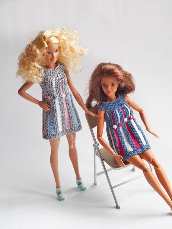 Muster für Puppe Barbie dres Strickmuster 115 Zoll   Etsy