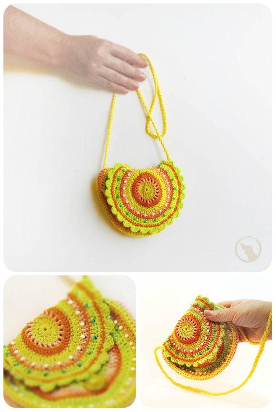 bolsa boho crochet ganchillo de la mano del monedero bolso | Etsy