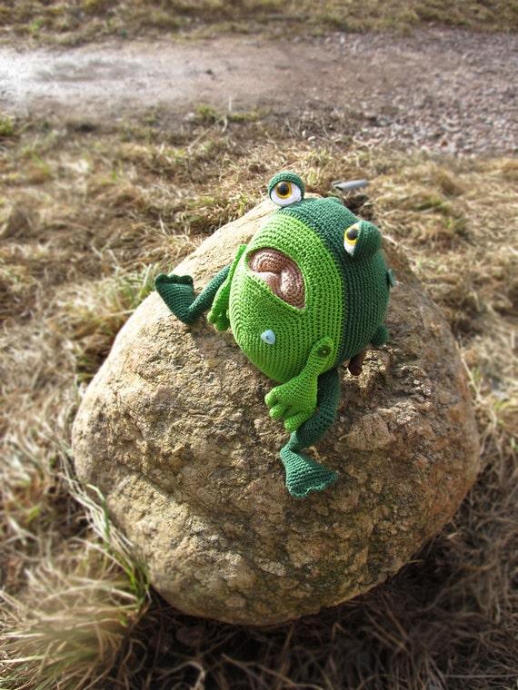 Amigurumi Muster Frosch Häkeln riesige Kröte Frog gestrickt   Etsy