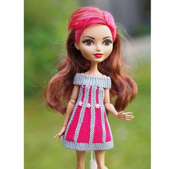 Vestido Que Hace Punto Para Muñecas Ever After High Monster High Moda Ropa Vestido Equipo Verano Muñeca Ropa Moda Coleccionable Muñeca