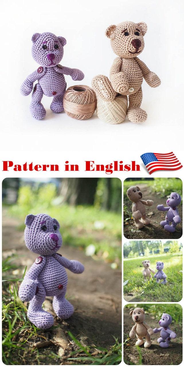 oso miniatura Crochet patrón patrones ganchillo Juguete | Etsy