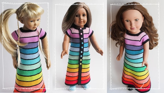 Toys R Us Journey Girls : Journey girls doll clothes rainbow dress for ag doll 18 inch etsy