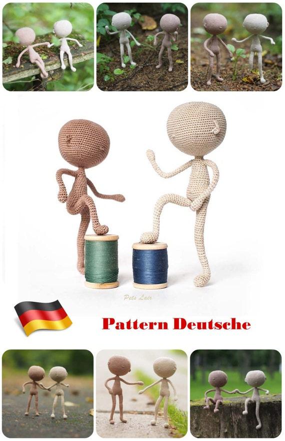 patrones ganchillo base de modelo muñeca cuerpo miniatura   Etsy