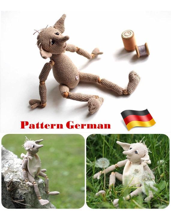 Muster Häkelns Deutsch häkeln Tutorial Hässliches Geschöpf | Etsy