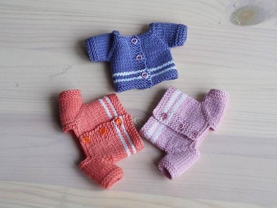 Miniatur-Kleidung Pullover für Teddy Jacke für Puppen | Etsy