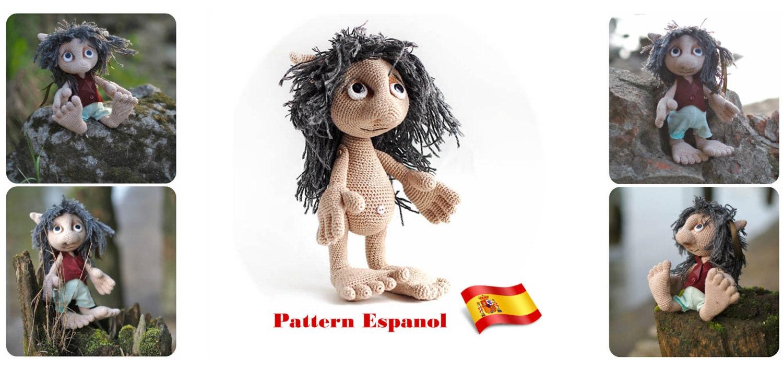 Spanish crochet tutorial Hobbit amigurumi pattern For Lord of | Etsy