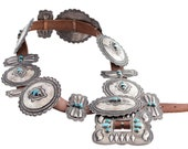 Don Lucas Sterling and Turquoise Concho Belt