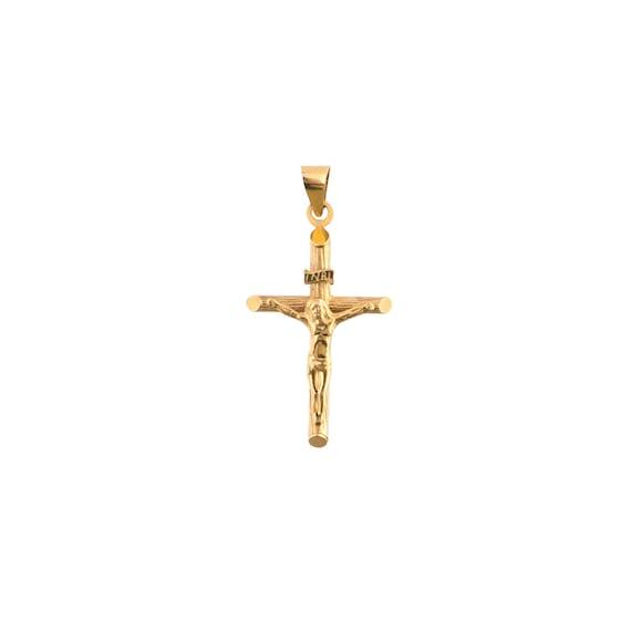 14K Gold Crucifix Charm