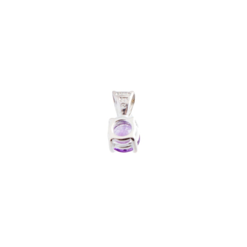 Sterling Amethyst Solitaire Pendant