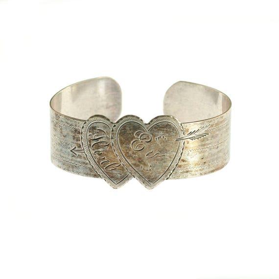 Sterling Sweetheart Cuff Bracelet