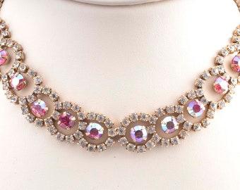 Pink Rhinestone Necklace