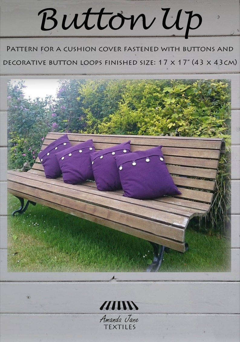 digital pattern cushion cover with buttons: 'Button image 0