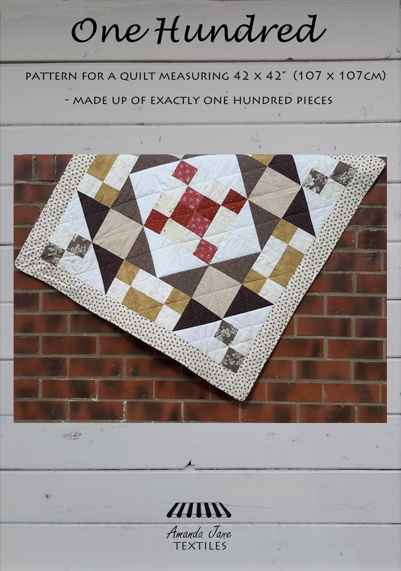 digital pattern lap quilt/throw: 'The One Hundred image 0