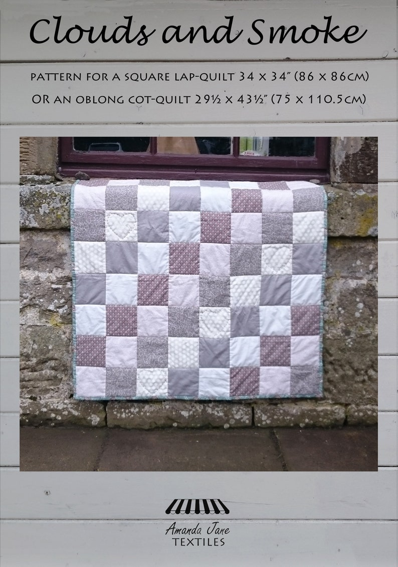 digital pattern for lap quilt/throw throw: 'Clouds and image 0