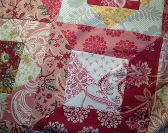 PDF single bed quilt, intermediate quilt pattern: 'Terrazzo', by Amanda Jane Textiles, instant download