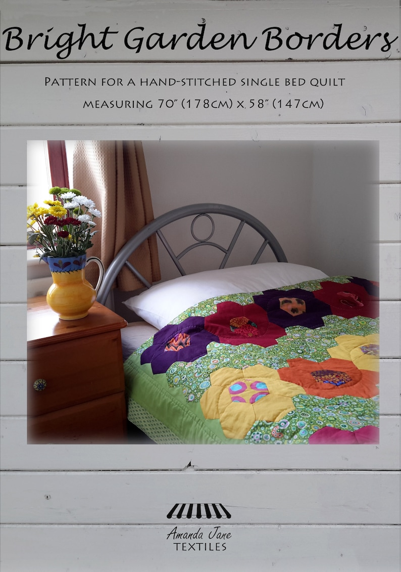 digital pattern single-bed quilt: 'Bright Garden image 0