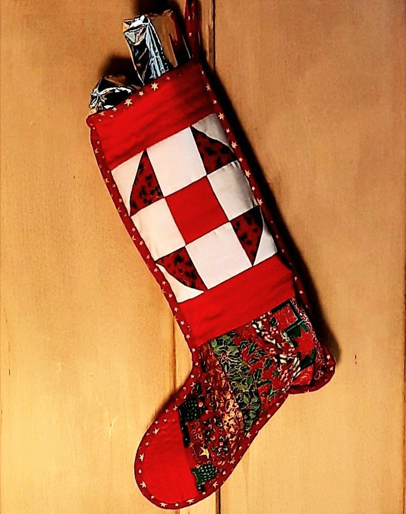 Quilt pattern: Christmas stocking/Christmas decoration strip image 0