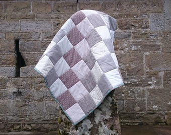 PDF throw or lap quilt, beginners' quilt pattern:  'Clouds and Smoke', by Amanda Jane Textiles, instant download