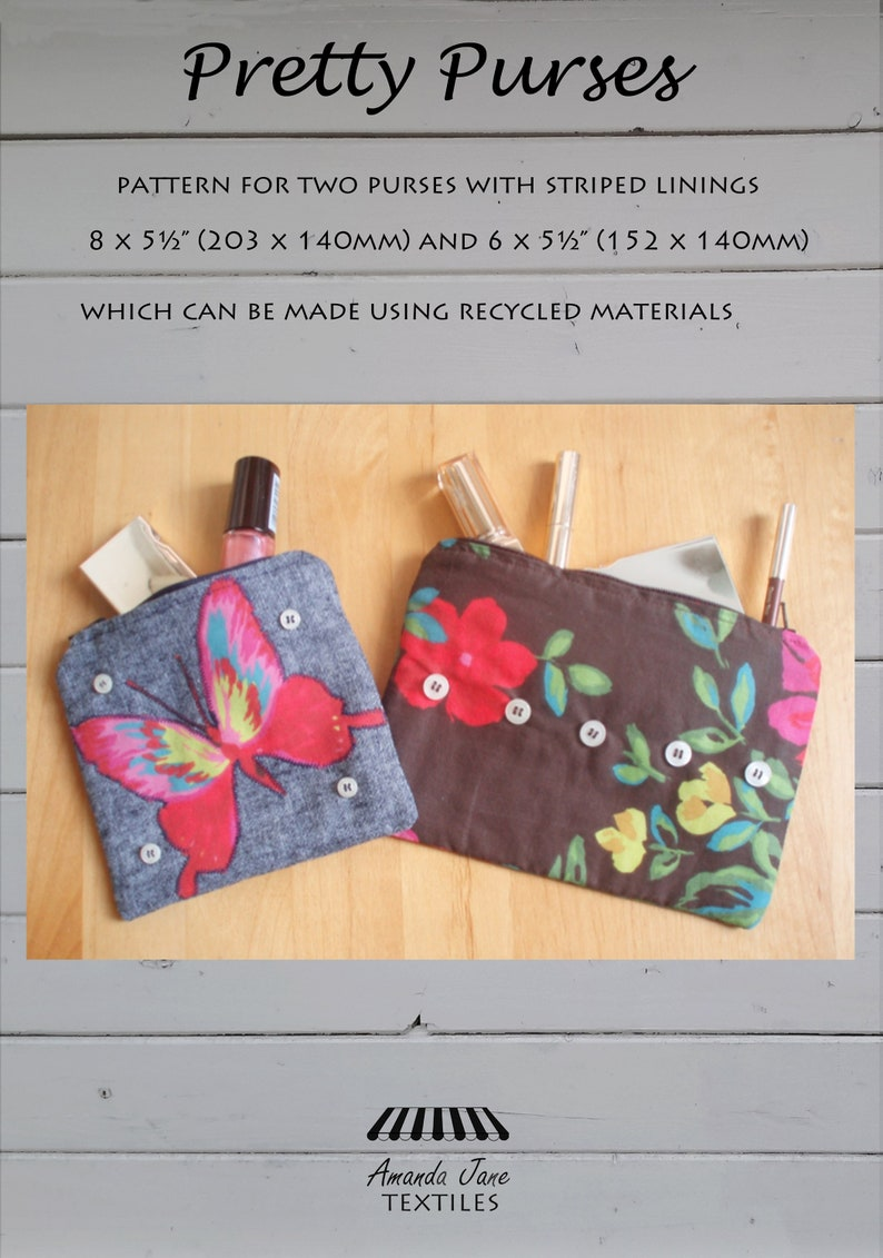 digital pattern for purse with zip:  'Pretty Purses'  image 0
