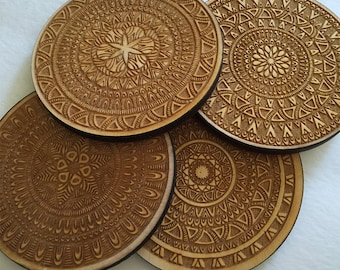 Geometric Coasters - Set of 4 Coasters with Geometric Patterns