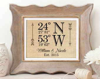 Latitude Longitude Wedding Gift | Wedding Coordinates Sign | Housewarming | Wedding Gift | Personalized Wedding Gifts | Bridal Shower Gift