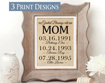 Mothers Day Gift for Mom Personalized Mothers Day Gift for Mother of the Bride Gift from Kids to Mom Gift for Mothers Day from Husband Idea