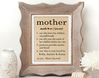 Definition of Mom Definition Mothers Day Gift for Mom from Daughter Mother Definition Gifts for Mom Mother Daughter Gift from Son MOB Gift