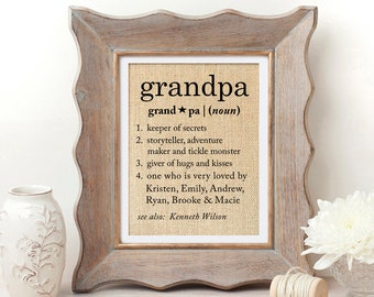 Definition of Grandpa Gift for Grandfather Gift Christmas Gift for Grandpa Gifts for Grandpa Definition Gifts for Grandpa Birthday Gift & Gift for grandfather | Etsy