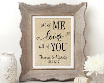 All of Me Loves All of You | All of Me Loves All of You Sign | John Legend | Love Song Print | John Legend Lyrics | Love Song Sign | Wedding